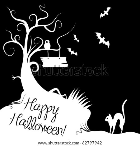 Halloween black and white Background