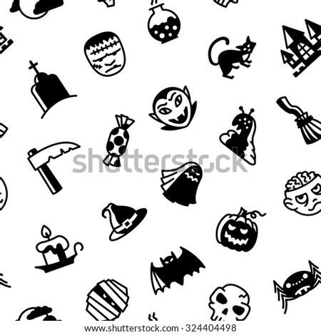 halloween black and white