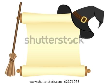 blank paper scroll. lank paper scroll