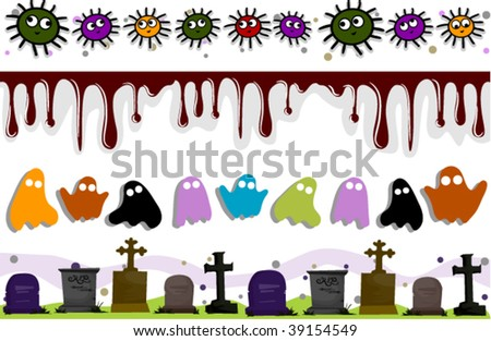Halloween Border Set - Vector