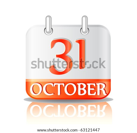 halloween calendar icon isolated on white background.