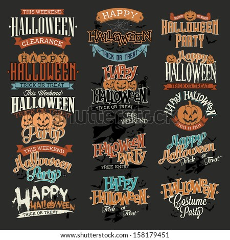 halloween calligraphic designs