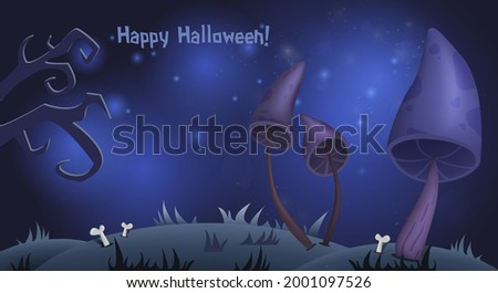 halloween card background with