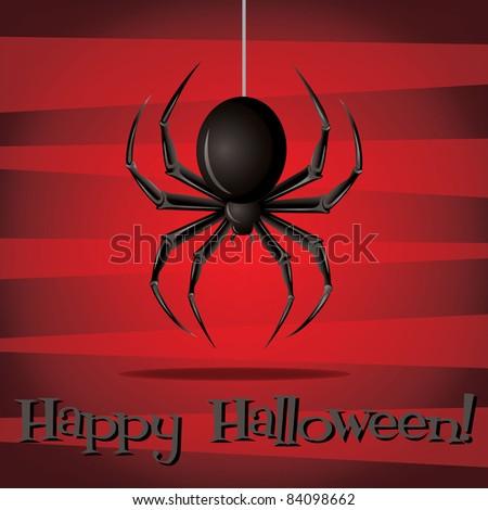 Halloween card in vector format.