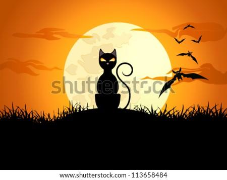 halloween card - vector illustration