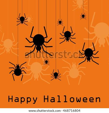 halloween card. vector illustration #468716804
