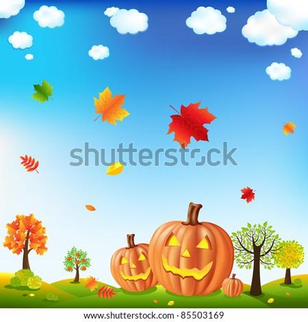 Halloween Card, Vector Illustration