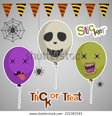 halloween card with balloons