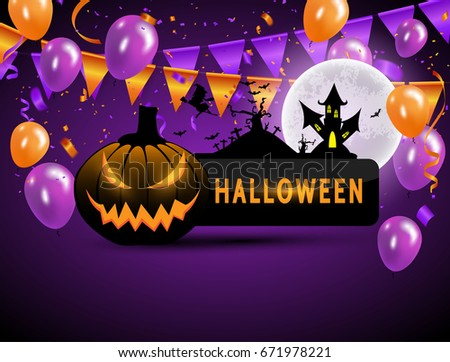 Halloween Party Vector Buntings - Download Free Vector Art, Stock ...