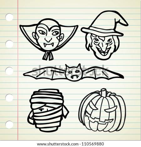 Halloween cartoon character - stock vector