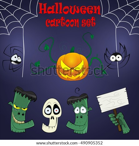halloween cartoon design