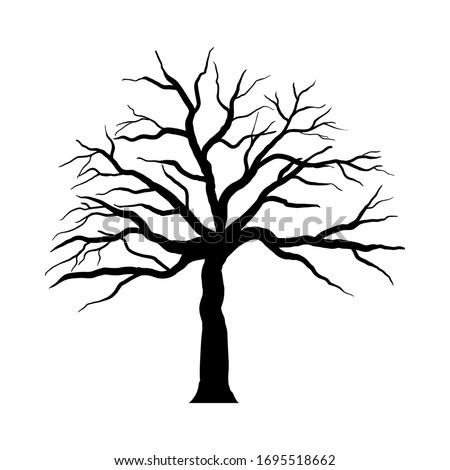 halloween cartoon tree black