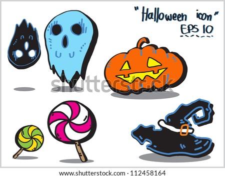 Halloween cartoon , vector icon