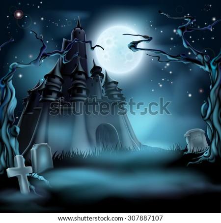 halloween castle grave yard
