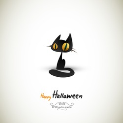 Halloween Cat | EPS10 Graphic | Separate Layers Named Accordingly