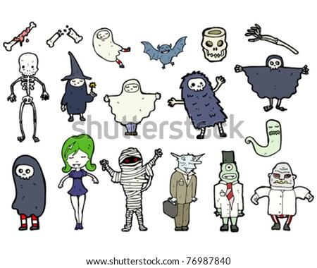 halloween characters cartoon