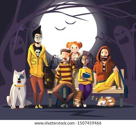 halloween characters friends