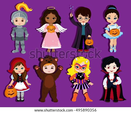 halloween children trick or