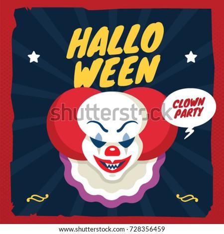 halloween clown illustration