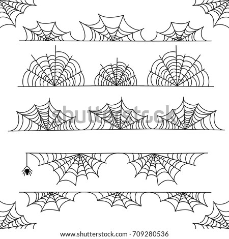 halloween cobweb vector frame
