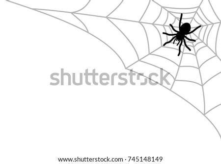Halloween cobweb vector frame border and dividers isolated on white with spider web for spiderweb