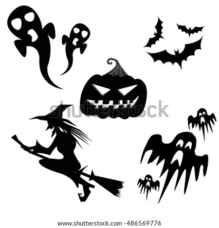 Halloween collection - vector illustration.