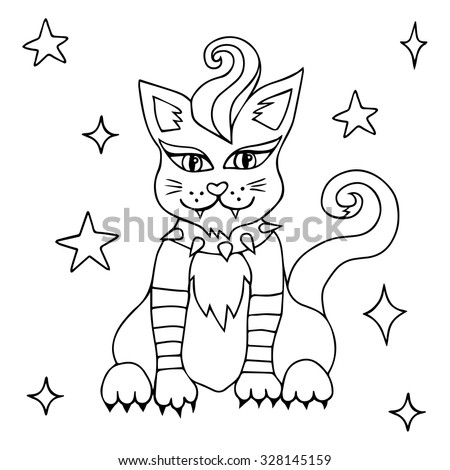 halloween coloring book vector