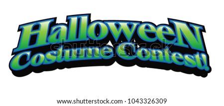 Halloween Costume Contest Vector Headline