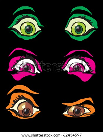 Scary Eyes Clip Art http://www.shutterstock.com/pic-62434597/stock-vector-halloween-costume-monster-scary-eyes-from-horror-in-night.html