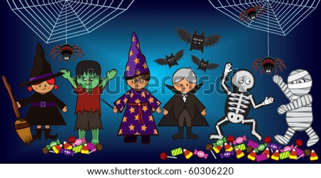 Halloween costume party with kids.