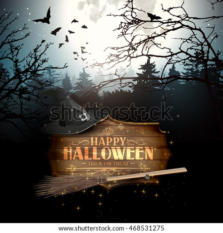 halloween creepy forest with