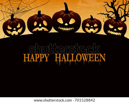 Halloween creepy vector background