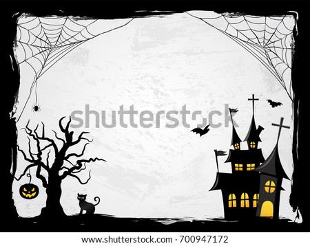 Halloween creepy vector frame