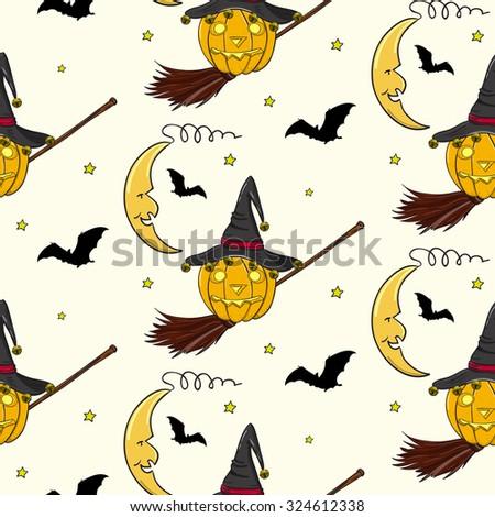 halloween crescent  jack o