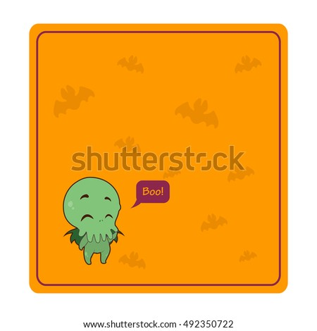 halloween cthulhu greeting with