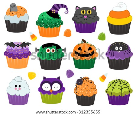 halloween cupcakes and treats