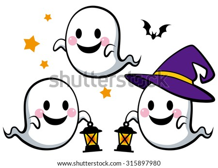 halloween   cute ghosts with