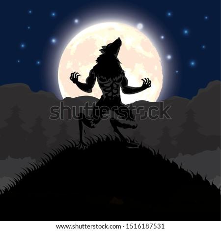 halloween dark night scene with