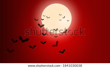 halloween dark red night sky