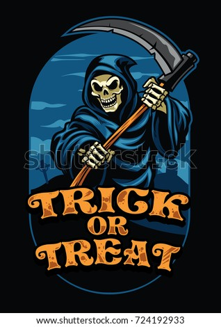 halloween design of grim reaper