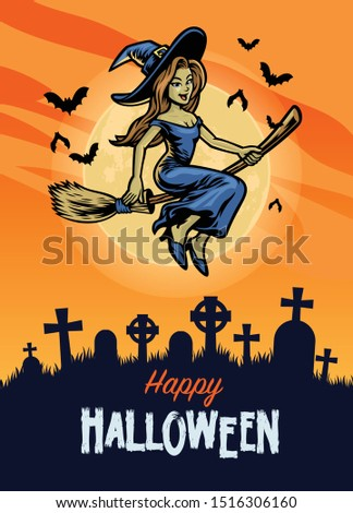 halloween design with cute