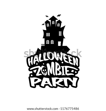Halloween design with typography and white background vector