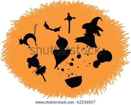 halloween doodle icons