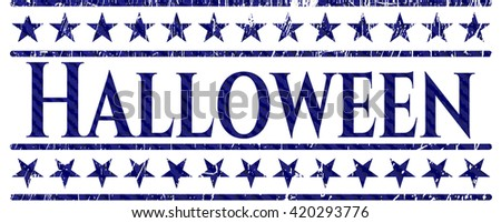Halloween emblem with jean high quality background