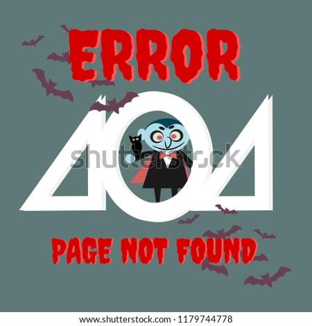halloween 404 error template