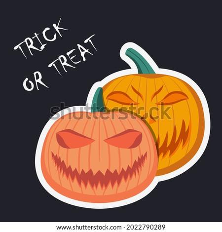 halloween evil pumpkins vector