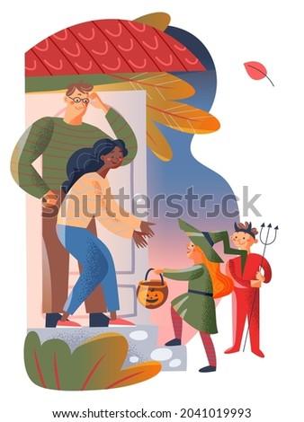halloween family holiday vector