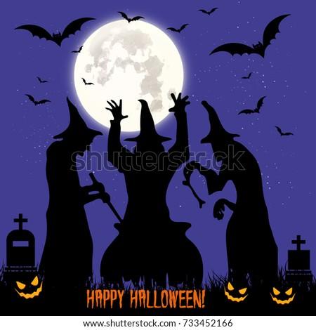 halloween feast black three