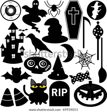 Halloween Festival Theme, Icons / Design Elements : silhouette