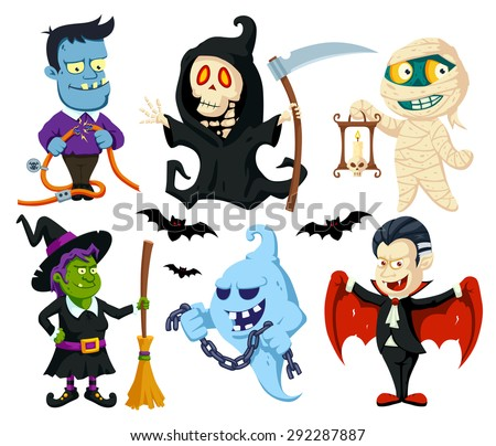 halloween flat cartoon